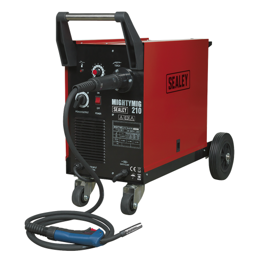 Sealey - MIGHTYMIG210 Professional Gas/No-Gas MIG Welder 210Amp with Euro Torch