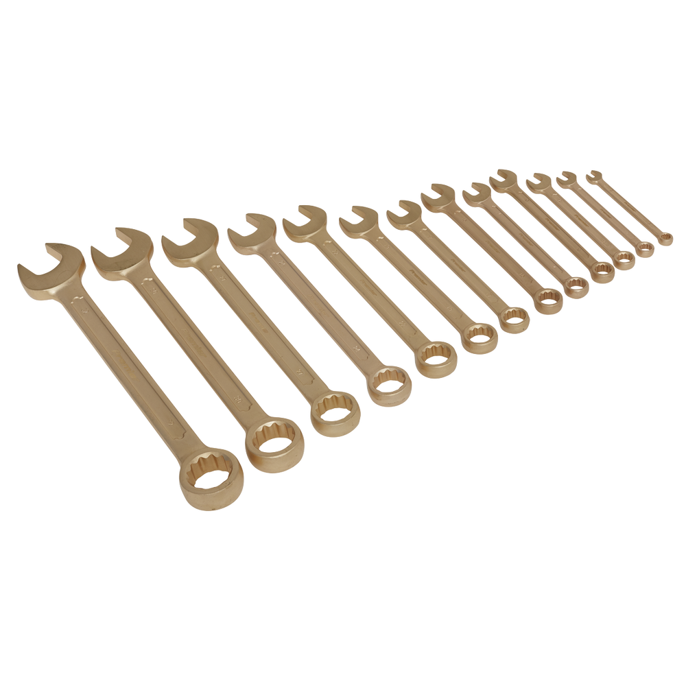 Sealey - NS001 Combination Spanner Set 13pc 8-32mm Non-Sparking