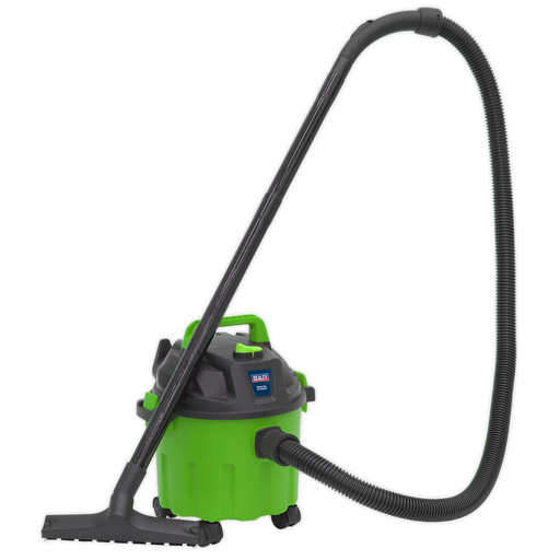 Sealey - PC102HV Vacuum Cleaner Wet & Dry 10ltr 1000W/230V - Hi-Vis Green