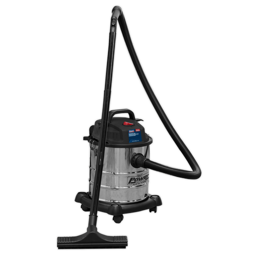 Sealey - PC195SD Vacuum Cleaner Wet & Dry 20ltr 1200W/230V Stainless Drum