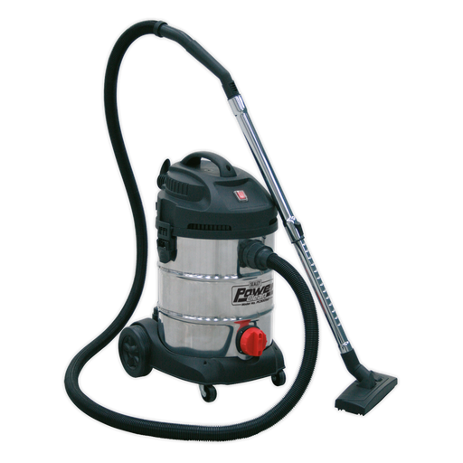 Sealey - PC300SD Vacuum Cleaner Industrial 30ltr 1400W/230V Stainless Drum