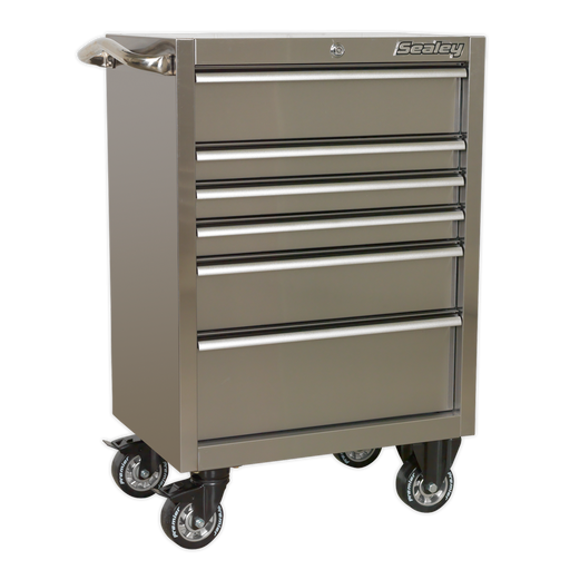 Sealey - PTB67506SS Rollcab 6 Drawer 675mm Stainless Steel Heavy-Duty