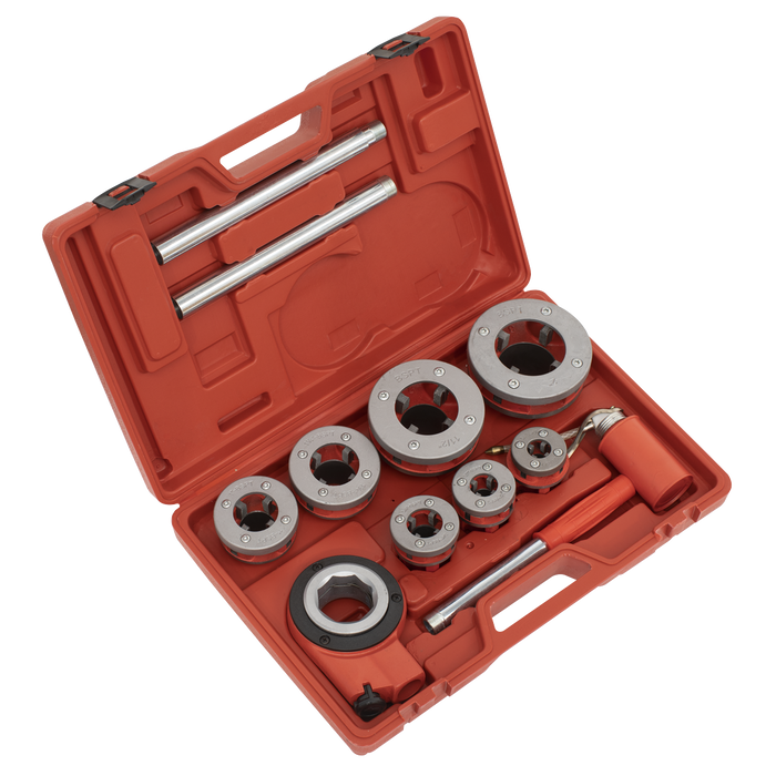 "Sealey - PTK992 Pipe Threading set 7pc 3/8"" - 2""BSPT"