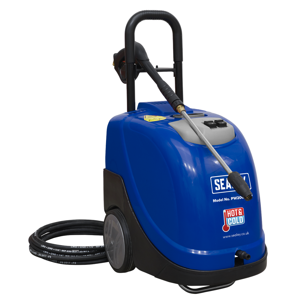 Sealey - PW2000HW Hot Water Pressure Washer 135bar 230V