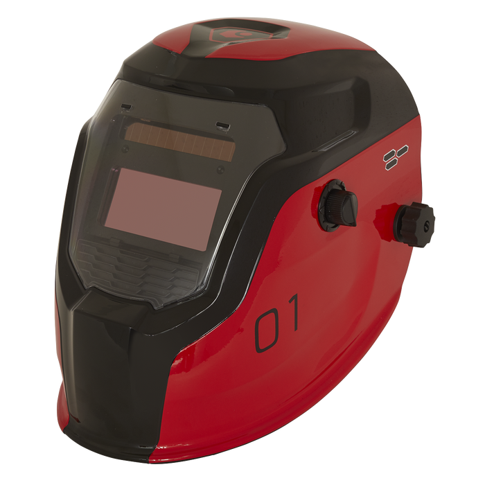 Sealey - PWH1 Auto Darkening Welding Helmet Shade 9-13 - Red