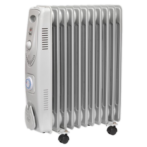 Sealey - RD2500T Oil Filled Radiator 2500W/230V 11 Element with Timer