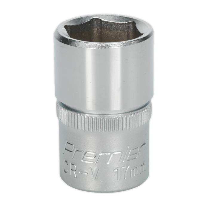 "Sealey - S1217 WallDrive® Socket 17mm 1/2""Sq Drive"