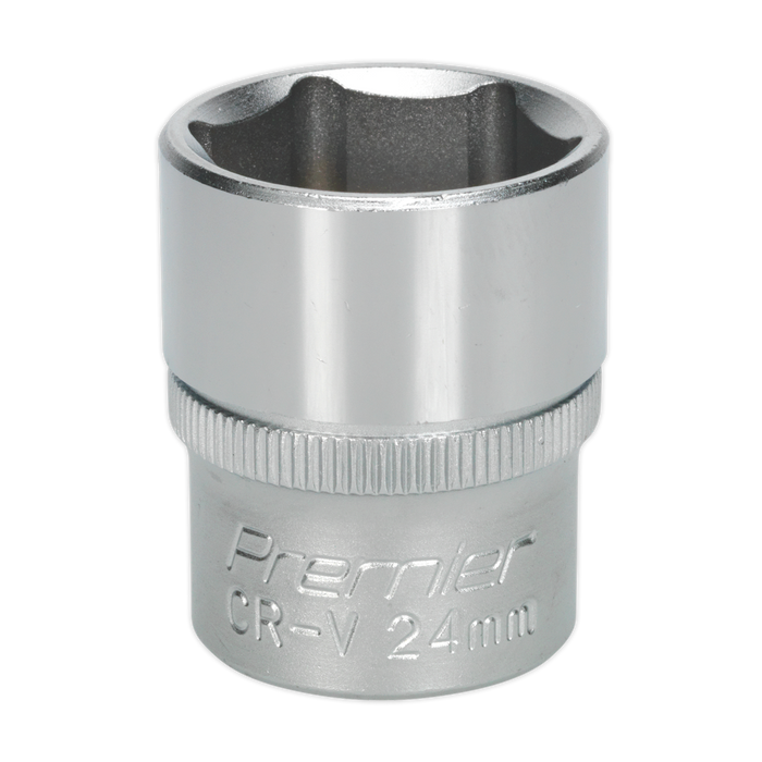 "Sealey - S1224 WallDrive® Socket 24mm 1/2""Sq Drive"