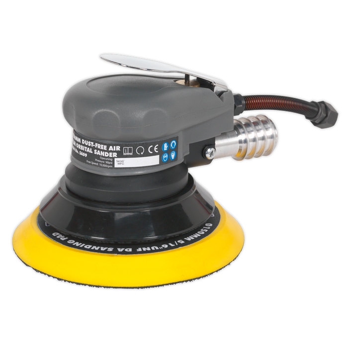 Sealey - SA09 Air Palm Orbital Sander Ø150mm Dust-Free