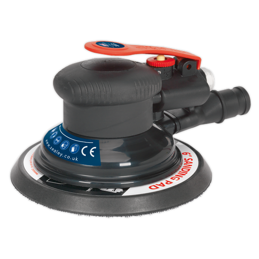 Sealey - SA801 Air Palm Orbital Sander Ø150mm Dust-Free