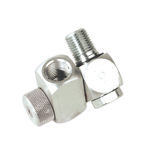 "Sealey - SA900 Z-Swivel Air Hose Connector with Regulator 1/4""BSP"