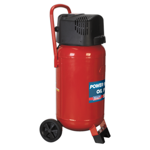 Sealey - SAC05020 Compressor 50ltr Belt Drive 2hp Oil Free