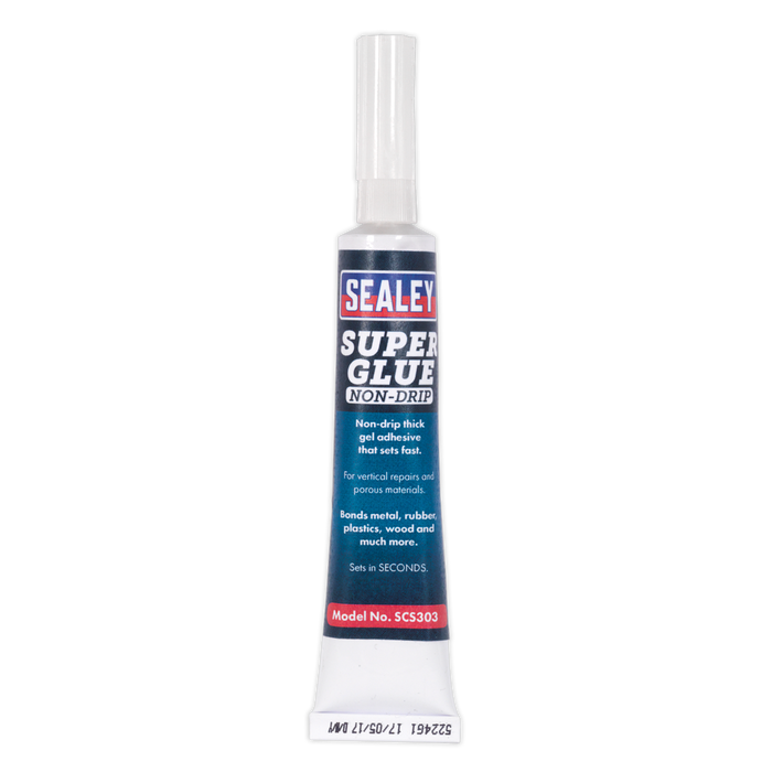 Sealey - SCS303S Super Glue Non-Drip Gel 20g