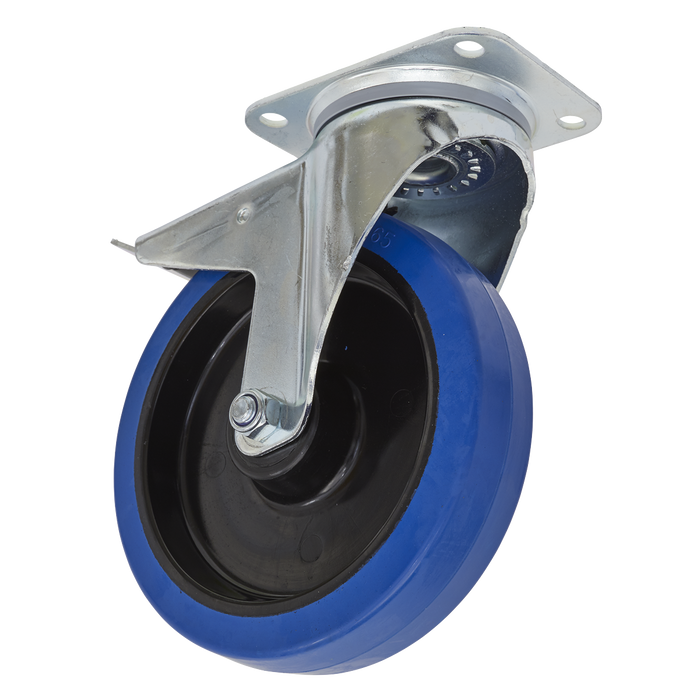 Sealey - SCW3200SPL Castor Wheel Swivel Plate with Total Lock Ø200mm
