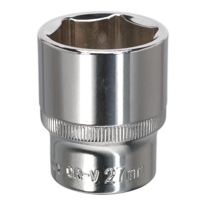 "Sealey - SP1227 WallDrive® Socket 27mm 1/2""Sq Drive Fully Polished"