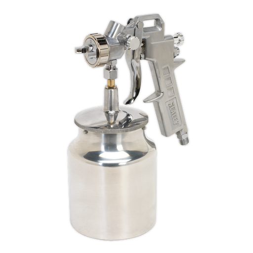 Sealey - SSG2 Spray Gun Suction Feed General Purpose 1.5mm Set-Up