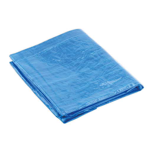 Sealey - TARP1012 Tarpaulin 3.05 x 3.66m Blue