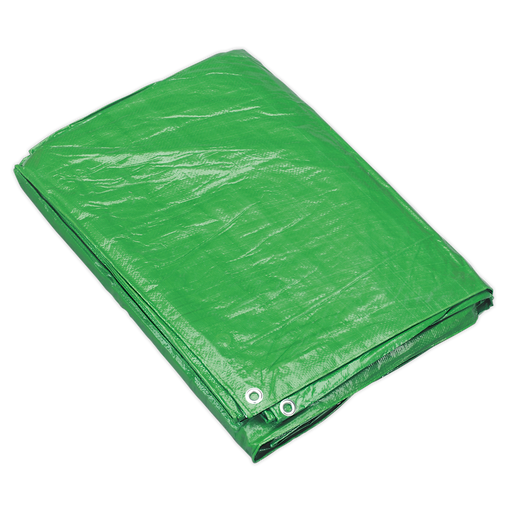Sealey - TARP1012G Tarpaulin 3.05 x 3.66m Green