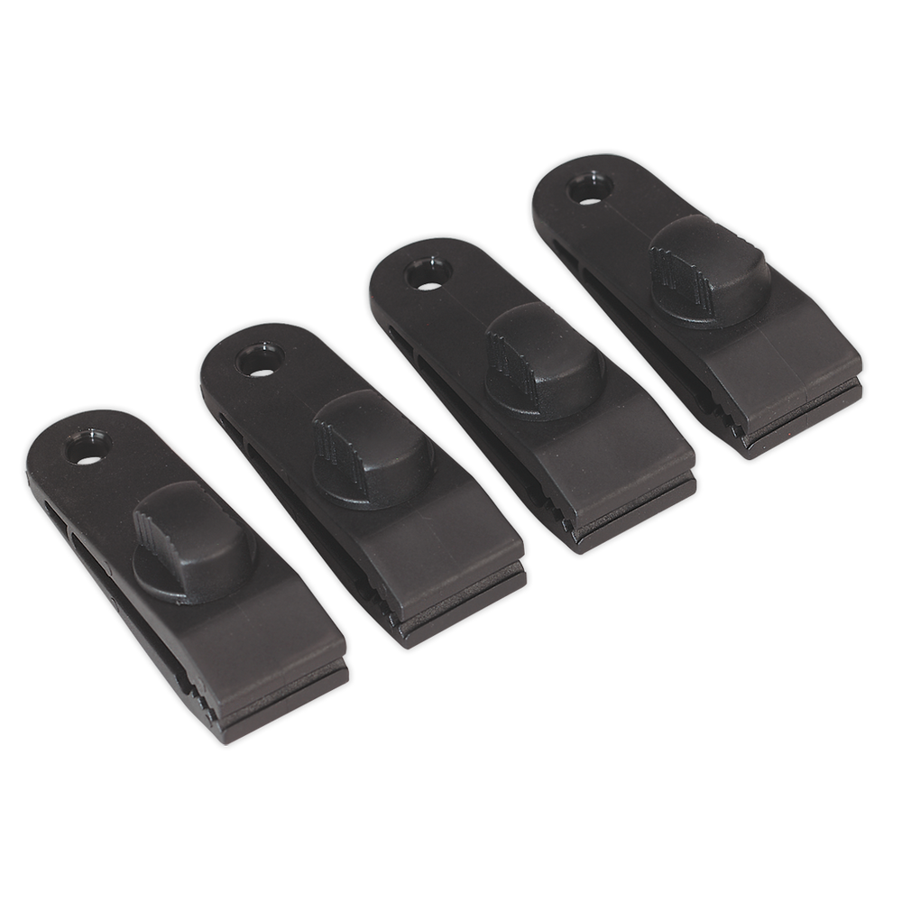 Sealey - TARP4 Tarpaulin Clip Pack of 4