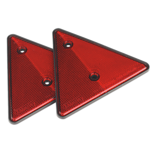 Sealey - TB17 Rear Reflective Red Triangle Pack of 2