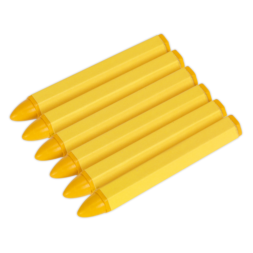Sealey - TST14 Tyre Marking Crayon - Yellow Pack of 6