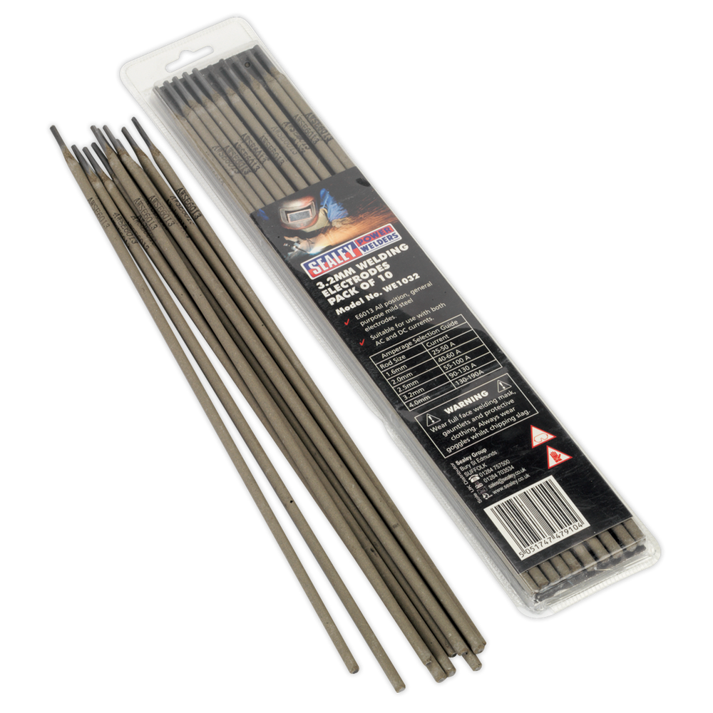 Sealey - WE1032 Welding Electrode Ø3.2 x 350mm Pack of 10