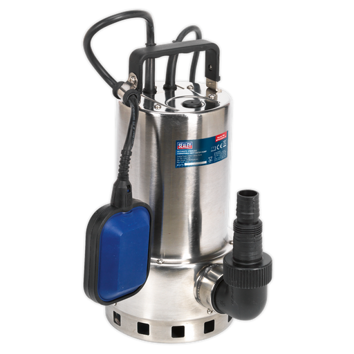 Sealey - WPS225A Submersible Stainless Water Pump Automatic Dirty Water 225ltr/min 230V