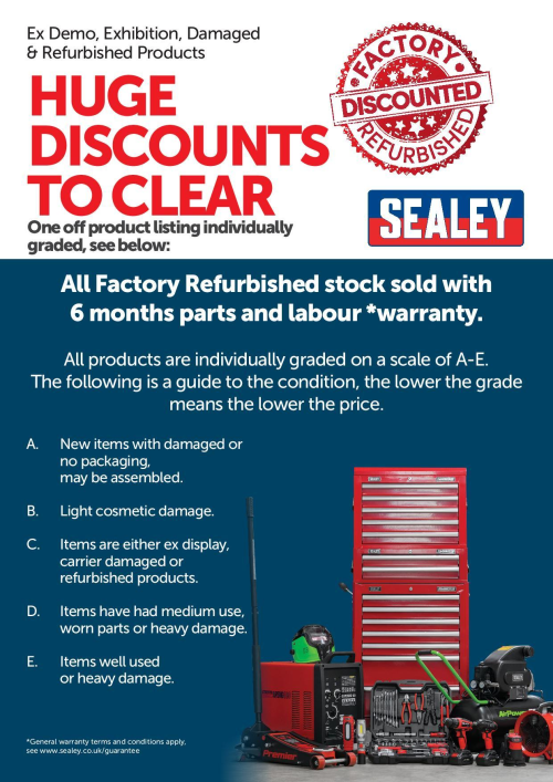 Certified Refurbished Sealey - API9007 Industrial Cabinet 7 Drawer