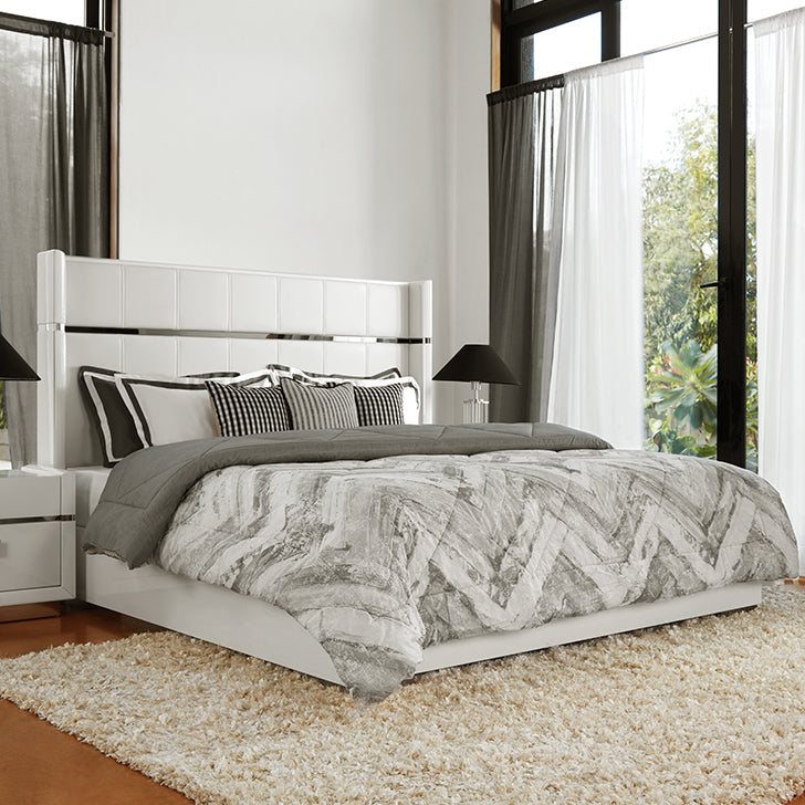 King Size Bed in witte kleur