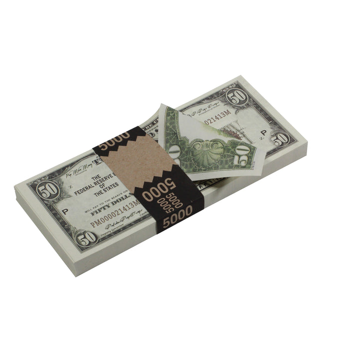 Series 1920s Vintage $50 Full Print Prop Money Stack - Prop Money