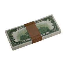 Load image into Gallery viewer, Series 1920s Vintage $100 Full Print Prop Money Stack - Prop Money