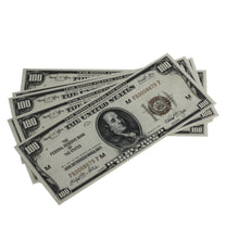 Load image into Gallery viewer, Series 1920s Vintage $100 Full Print Prop Money Stack - Prop Movie Money