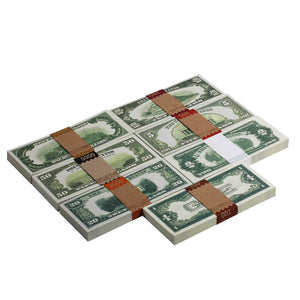 Series 1920's Vintage $18,800 Full Print Prop Money Stack Bundle - Prop Money