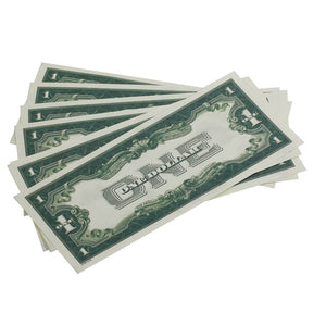 Series 1920's Vintage $1 Full Print $100 Prop Money Stack - Prop Movie Money