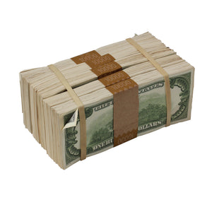 Series 1980s $100s AGED LOOK $50,000 Blank Filler Package - Prop Money