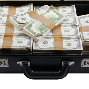 Series 1980s $500,000 Aged Full Print Briefcase - Prop Money