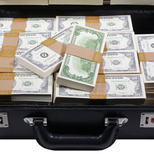 Load image into Gallery viewer, 1980s Series $500,000 Blank Filler Prop Money Briefcase