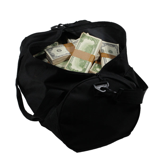 1980 Series $500,000 Aged Full Print Duffel Bag - Prop Money