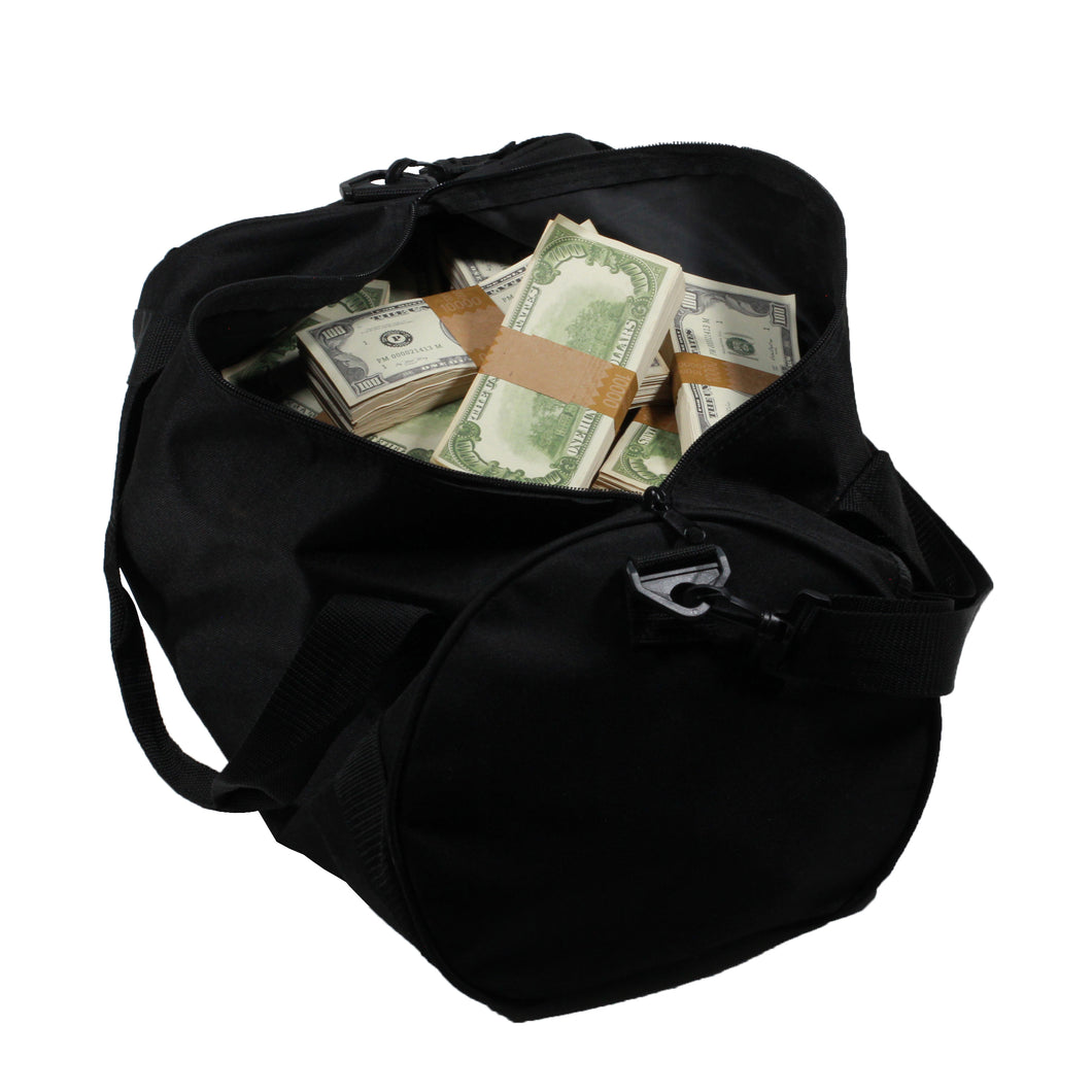 1980 Series $500,000 Aged Full Print Duffel Bag - Prop Movie Money