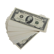 Load image into Gallery viewer, Series 1980s $10s Blank Filler $1,000 Prop Money Stack - Prop Money