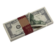 Load image into Gallery viewer, Series 1980s $10 Full Print Prop Money Stack - Prop Movie Money