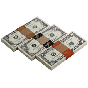 Series 1980s Mix $17,000 Full Print Prop Money Package
