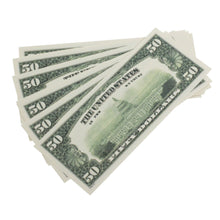Load image into Gallery viewer, 1980 Series $50 Full Print Prop Money Stack - Prop Money