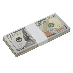 $3700 New Style Mixed (100) Bill Pack - Prop Movie Money