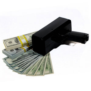 Mixed Series $20,000 Full Print Stacks with Money Gun - Prop Movie Money