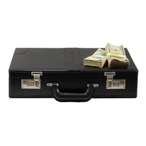 Series 2000 $500,000 Aged Full Print Briefcase - Prop Money