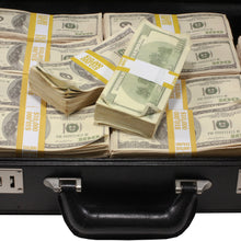 Load image into Gallery viewer, Series 2000 $500,000 Aged Full Print Briefcase - Prop Money