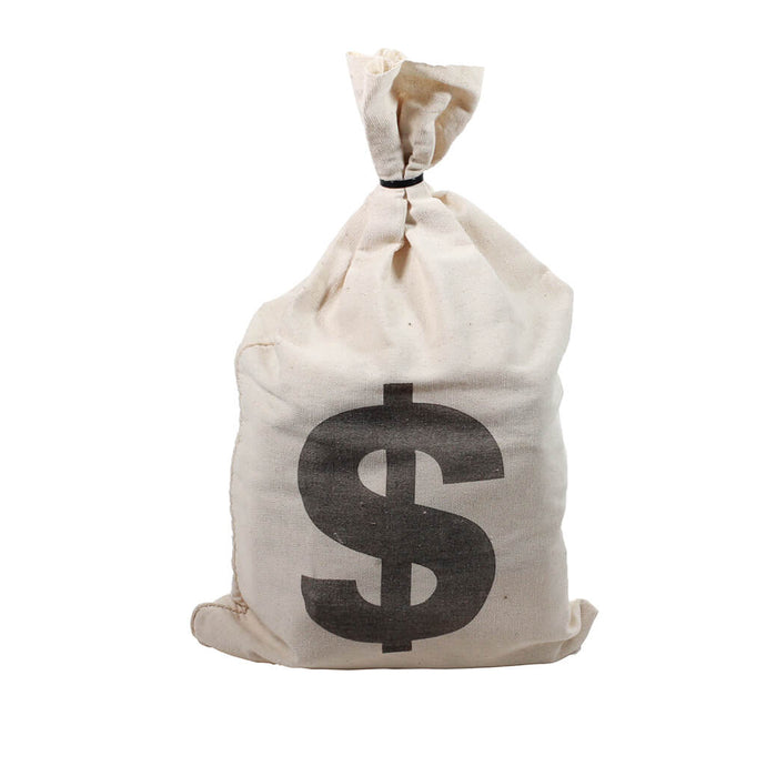 Canvas Money Bag - Prop Money