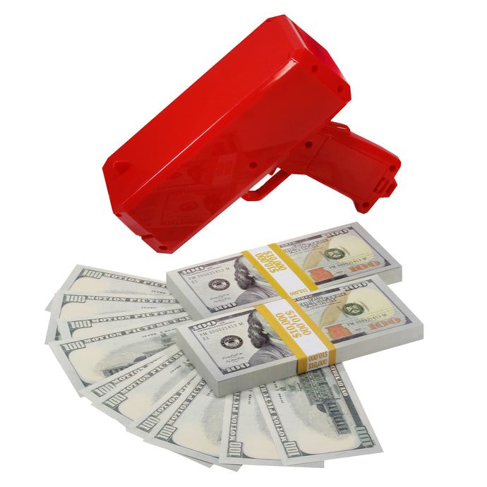 New Series $20,000 Full Print Stacks with Money Gun - Prop Money