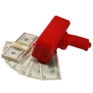2000 Series $100 Full Print Stack with Money Gun - Prop Money